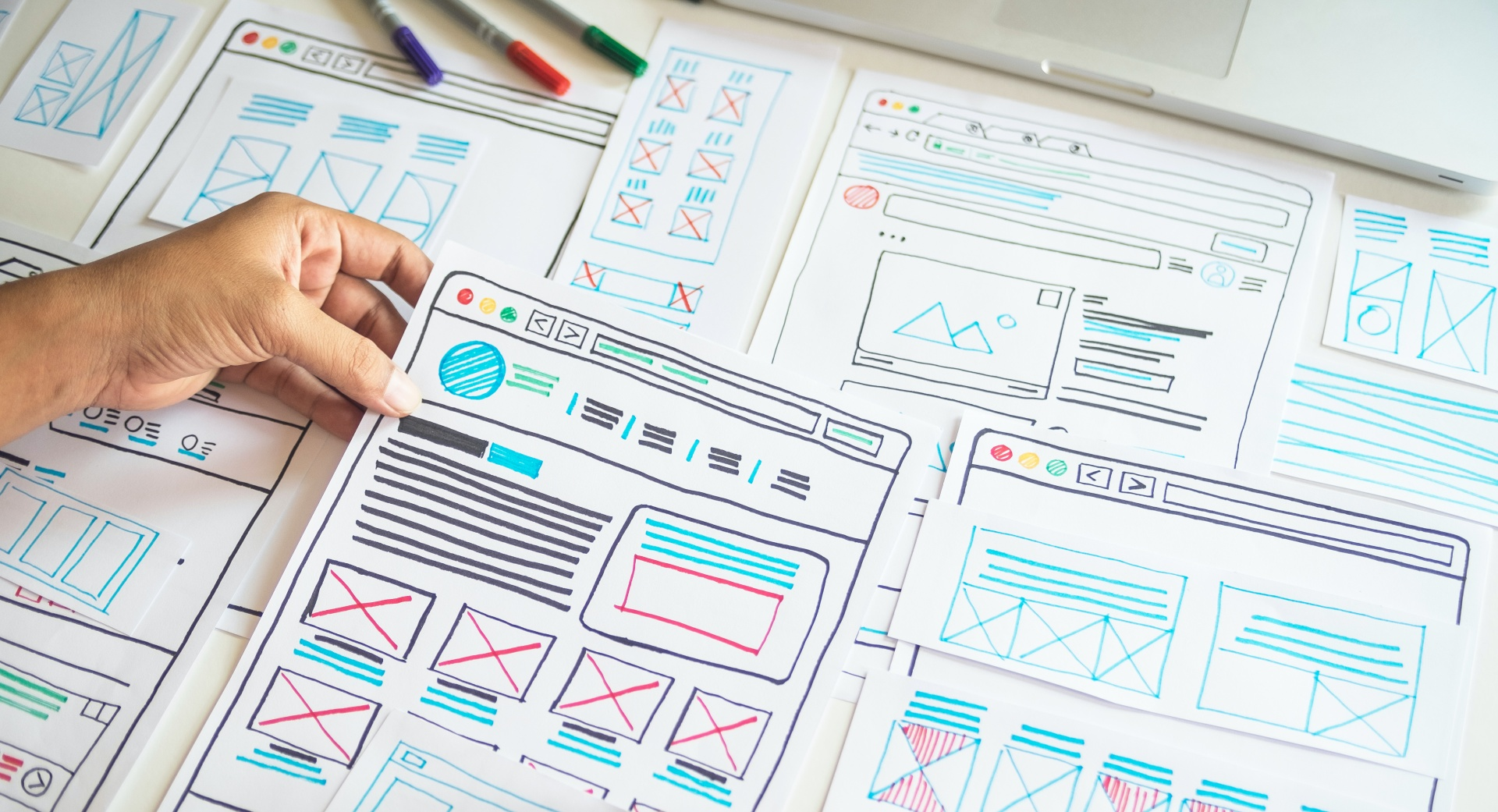 Hand drawn website templates