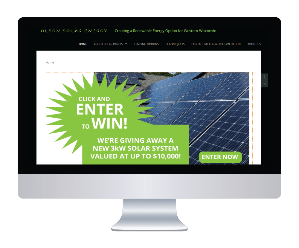 Olson Solar Energy Homepage